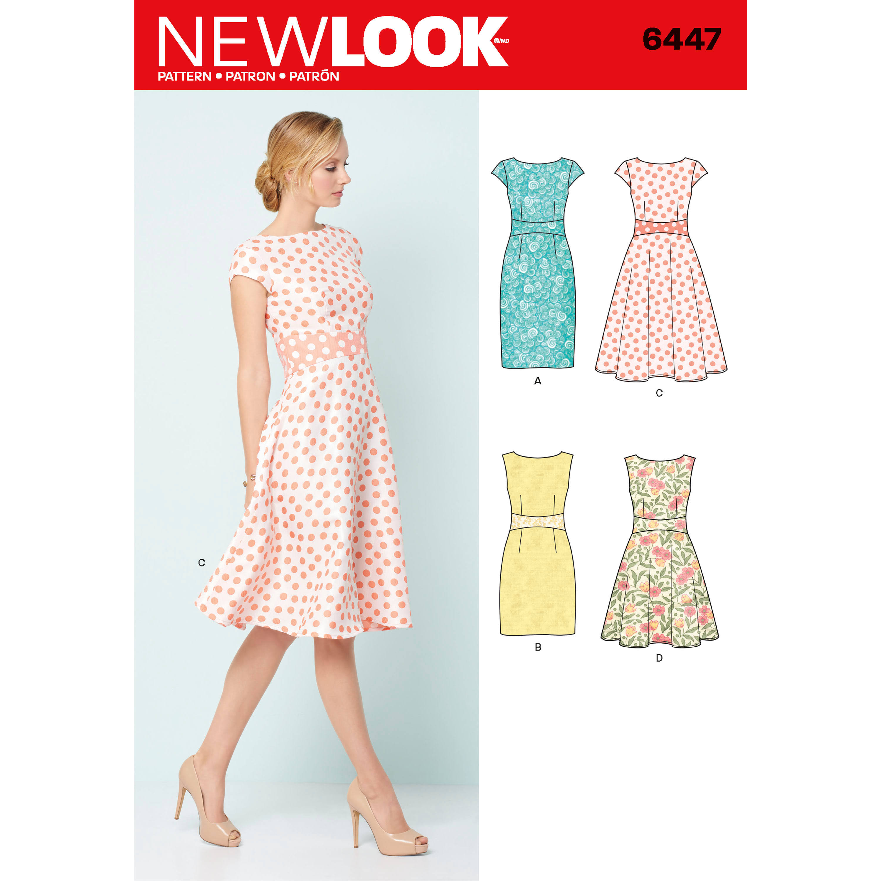 New Look 6447 Sewing Pattern - Misses' Dresses