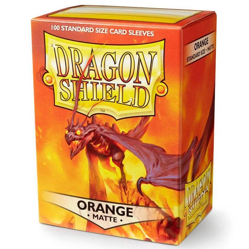Dragon Shield Card Sleeves - Standard, Orange, Matte, 100 ct
