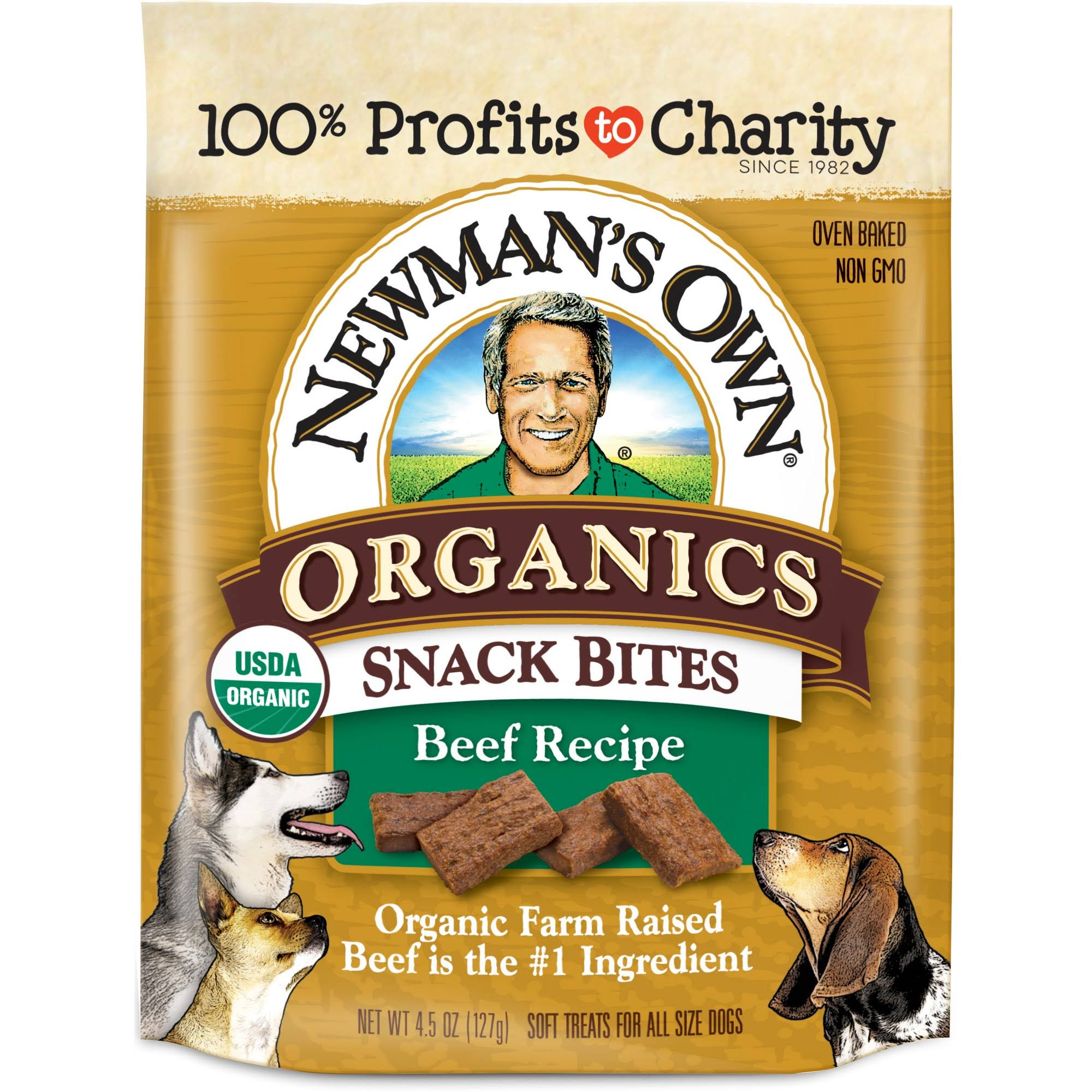 Newmans Own Organics Dog Treats, Beef Recipe, Oven Baked - 4.5 oz