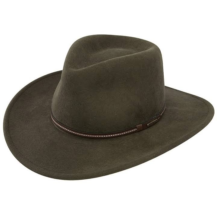Stetson Gallatin Crushable Wool Hat - Sage