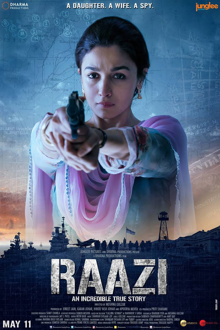 Raazi (2018) 720p Hindi HDRip – x264 AC3 – 5.1