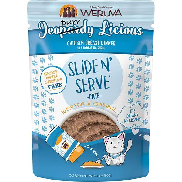 Weruva Jeopurrdy Licious Pate 2.8oz Wet Cat Food Pouch