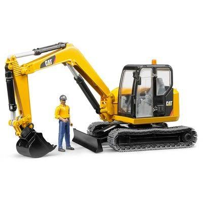 Bruder Toys Cat Mini Excavator With Worker