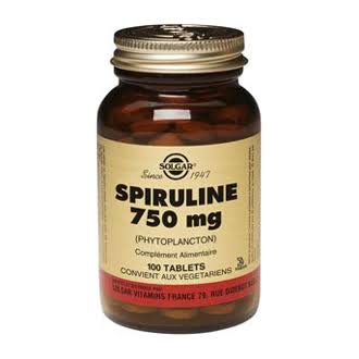 Solgar Spirulina Tablets Dietary Supplement - 750 mg, 100 Tablets