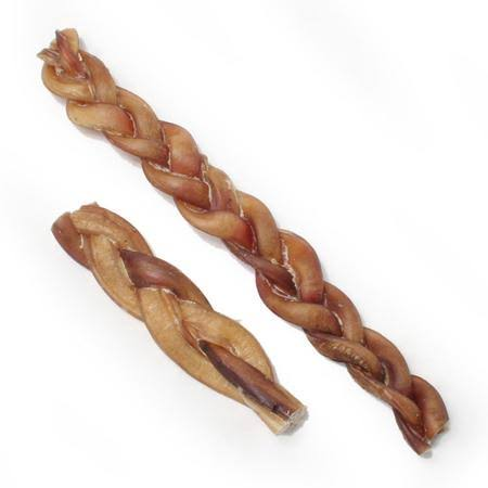 ARTVARK Products Braided Bully Stick Dog Chew, 12in