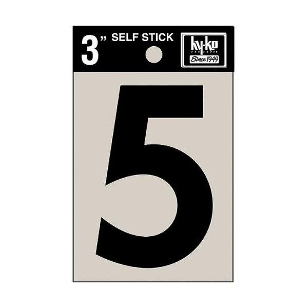 "Hy-ko Products Number Vinyl - House 5, 3"", Black"