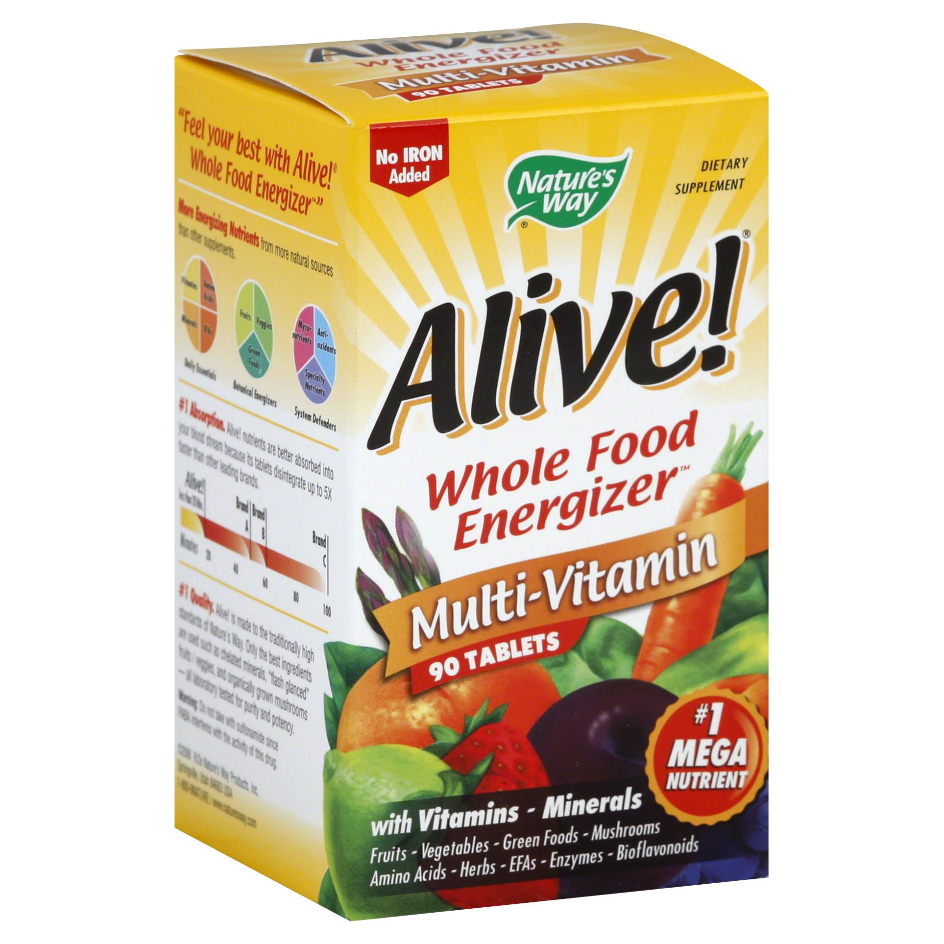 Nature's Way Alive! Max3 Daily Multi-Vitamin - 90 tablets