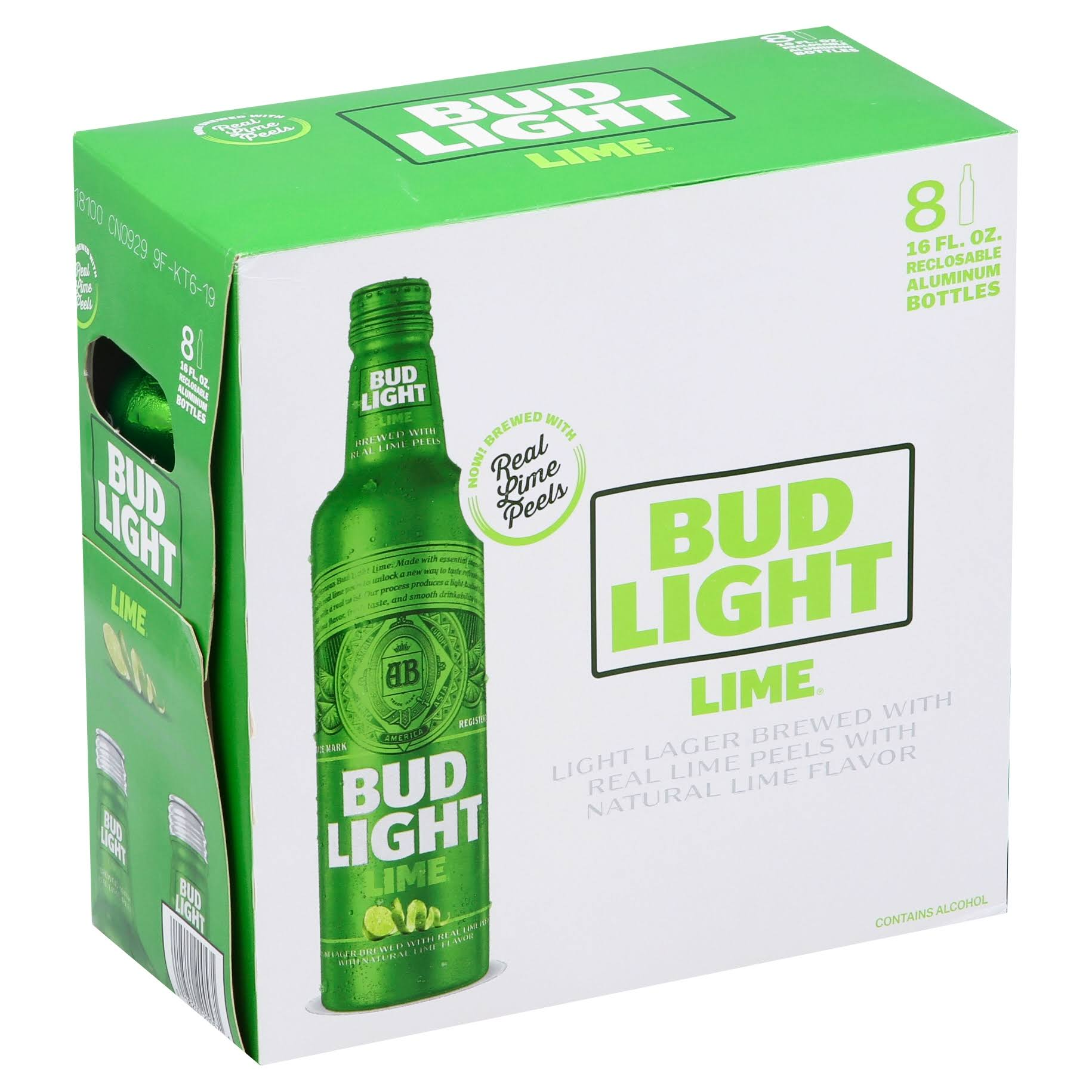 Bud Light Lime Beer, Lime - 8 – 16 fl oz bottles