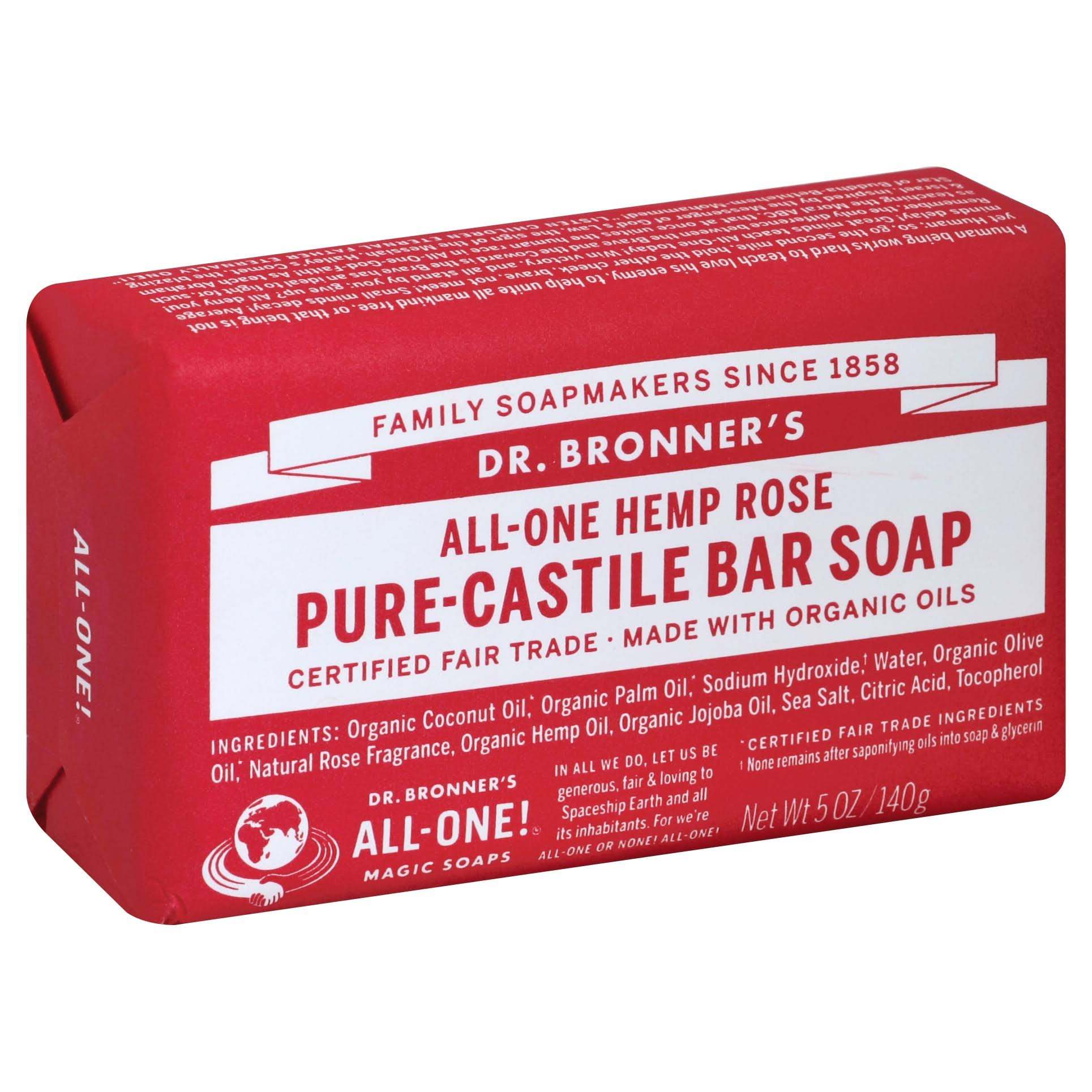 Dr. Bronner's Classic Pure-Castile Soap - Rose