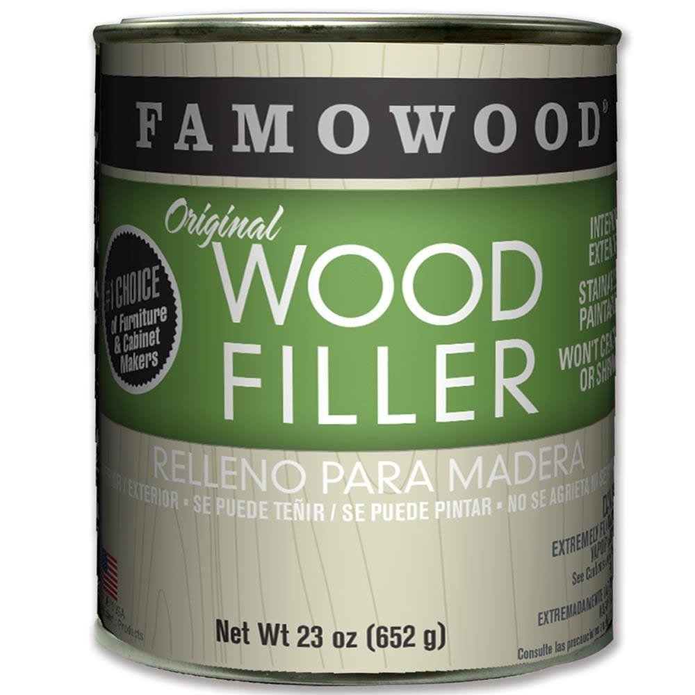 FamoWood 36021126 Original Wood Filler - Natural/Tupelo, 680ml