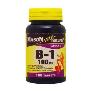 Mason Natural Vitamin B-1 Supplement - 100 Tablets, 100mg