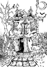 Scary Halloween Coloring Pages Online by A Big And Scary Haunted House From The Gallery Events Halloween