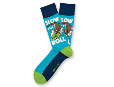 D.M. Merchandising Slow Your Roll Everyday Socks Small Feet