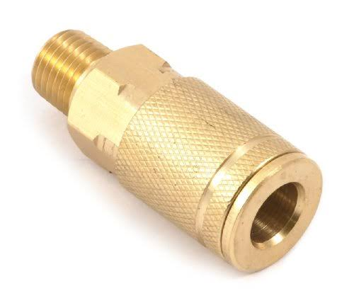 Forney 75217 Tru-Flate Style Air Fitting Coupler with 1/4-Inch-By-1/4-Inch Male NPT