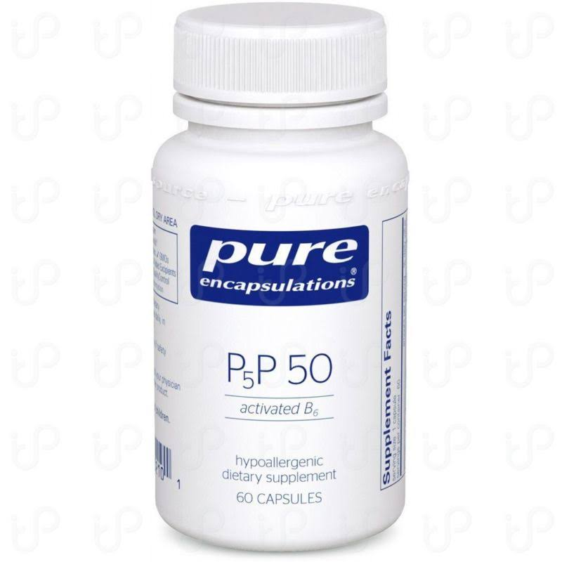 Pure Encapsulations P5p 50 Activated B6 Supplement - 60 Capsules