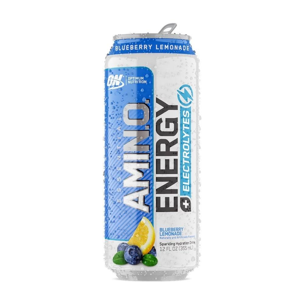Optimum Nutrition Amino Energy + Electrolytes, Essential, Blueberry Lemonade - 12 fl oz