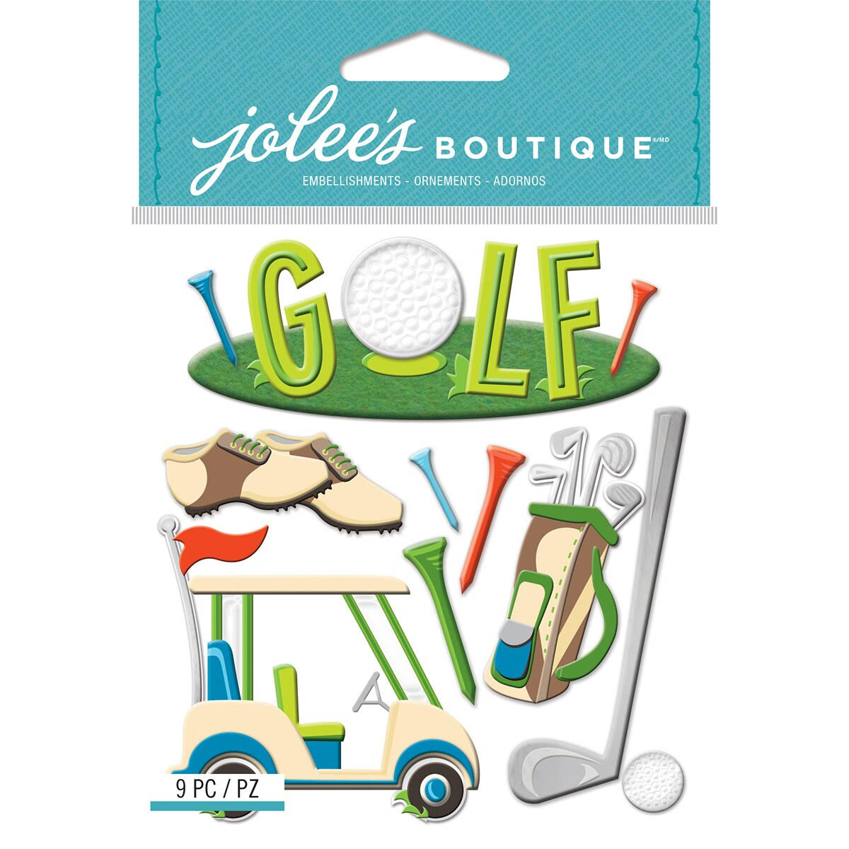 Jolee's Boutique Dimensional Stickers Golf