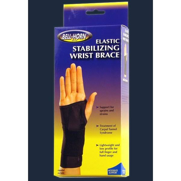 Bell Horn Elastic Stabilizing Left Wrist Brace - Black, Medium