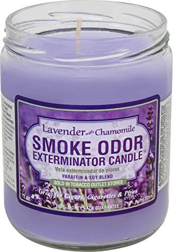 Smoke Odor Exterminator Jar Candle - Lavender with Chamomile, 13oz