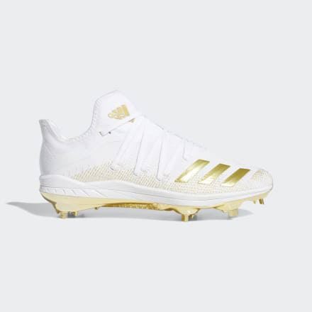 Adidas Afterburner 6 Gold White/Gold Men's Baseball Cleat 12