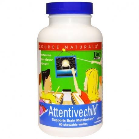 Source Naturals Attentive Child - 60 Chewable Wafers