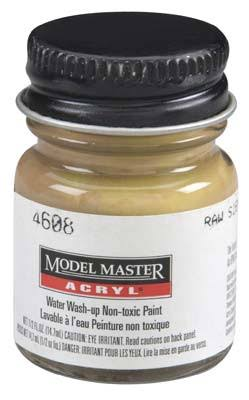 Testors Model Master Acrylic Paint Bottle - 4608 Raw Sienna, 1/2oz