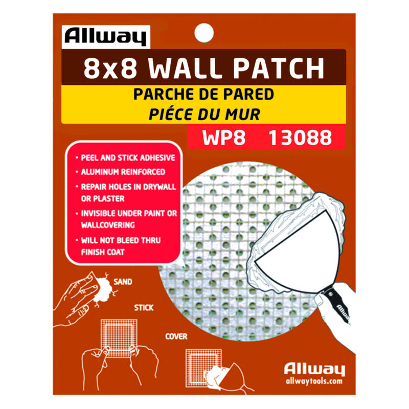 Allway Drywall Mesh Patch Fiberglass Self Adhesive 8 in. W, White