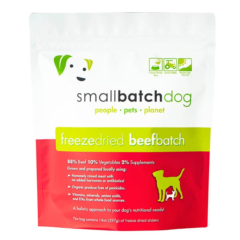 Smallbatch Beef Sliders 14oz Freeze Dried Dog Food