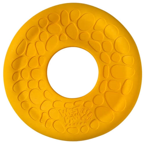 West Paw Design Zogoflex Air Dash Flying Disc Dog Play Toy - Large, Dandelion