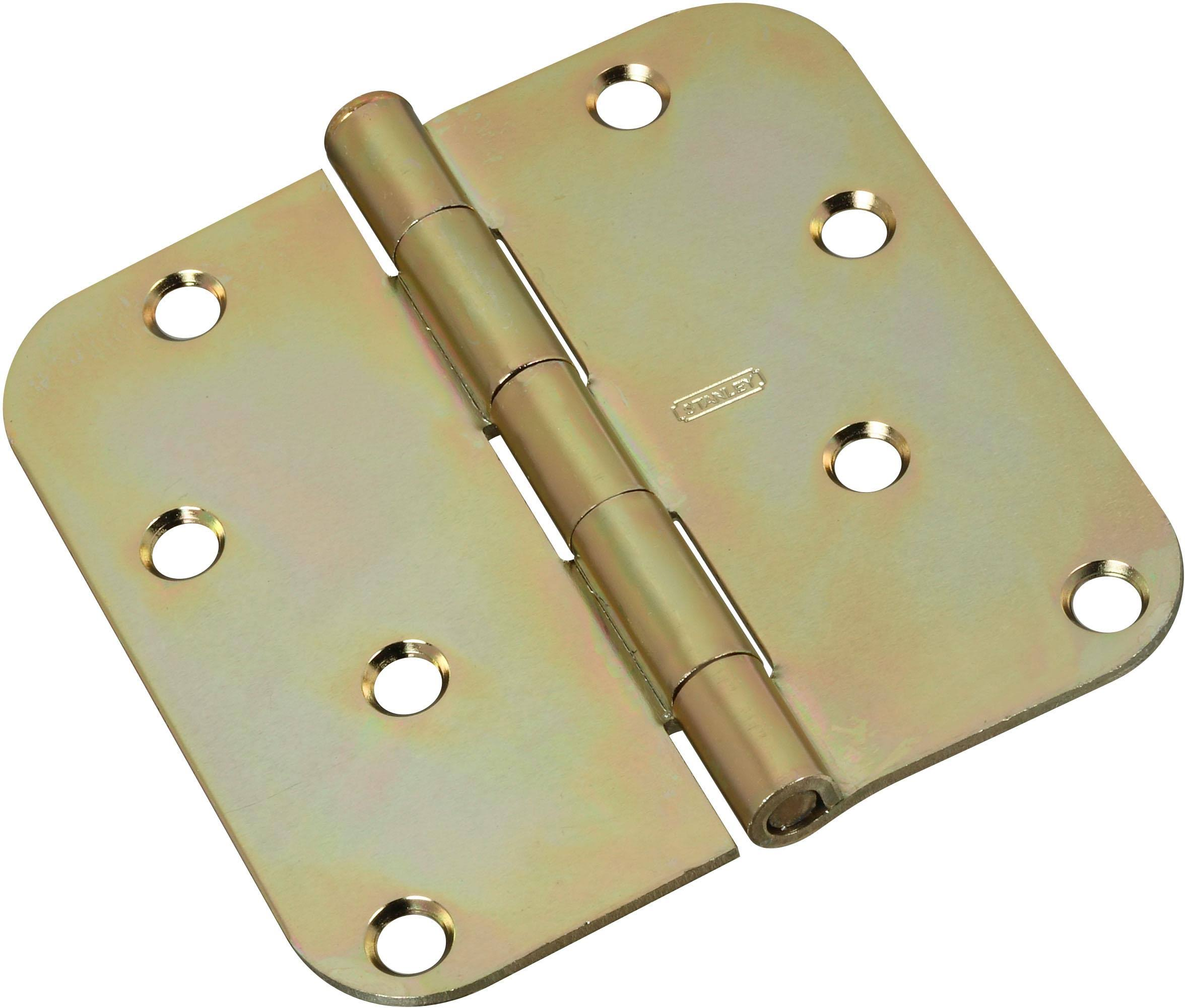 National Hardware Door Hinge - Brass, 4""