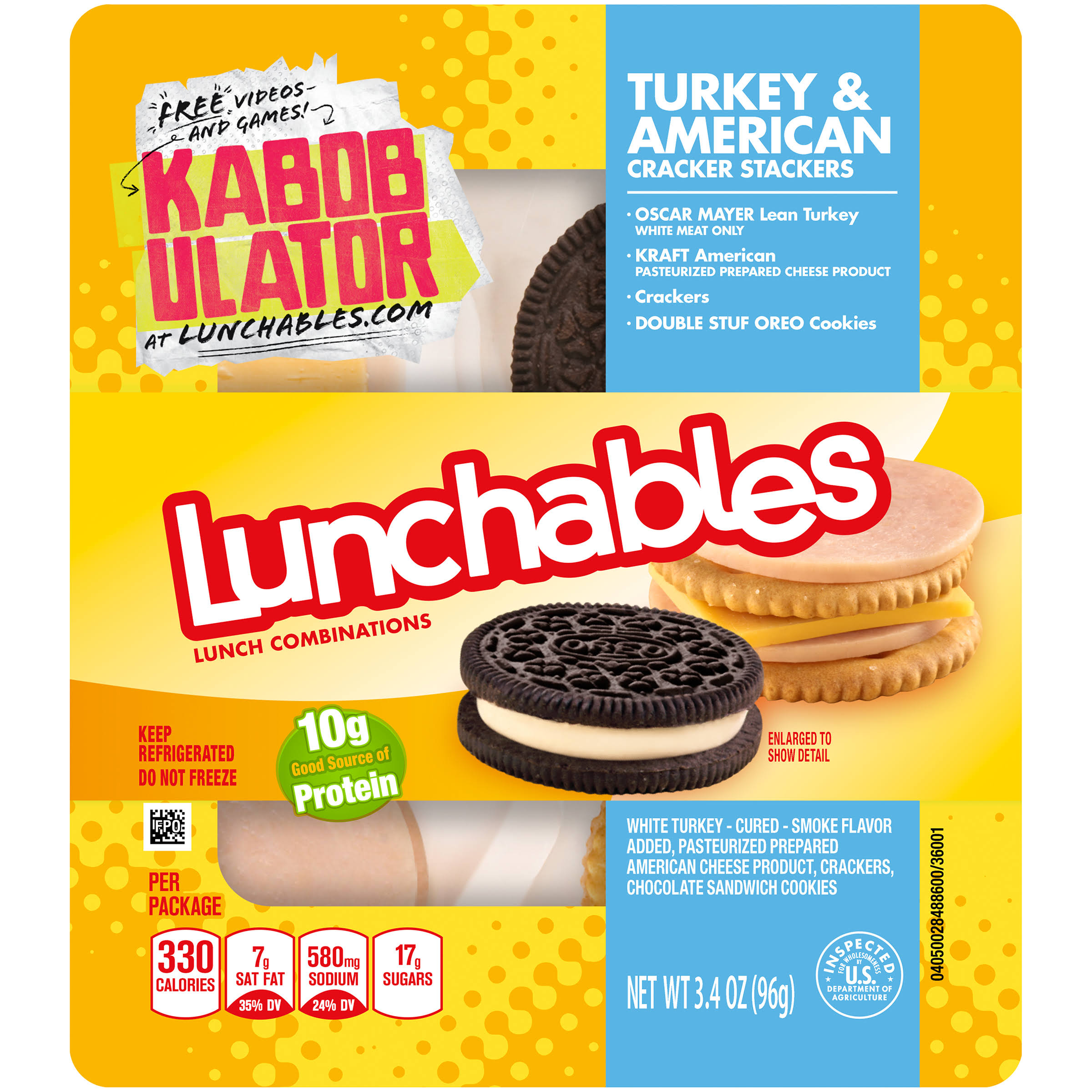 Lunchables Lunch Combinations - Turkey and American Cracker Stackers, 3.4oz