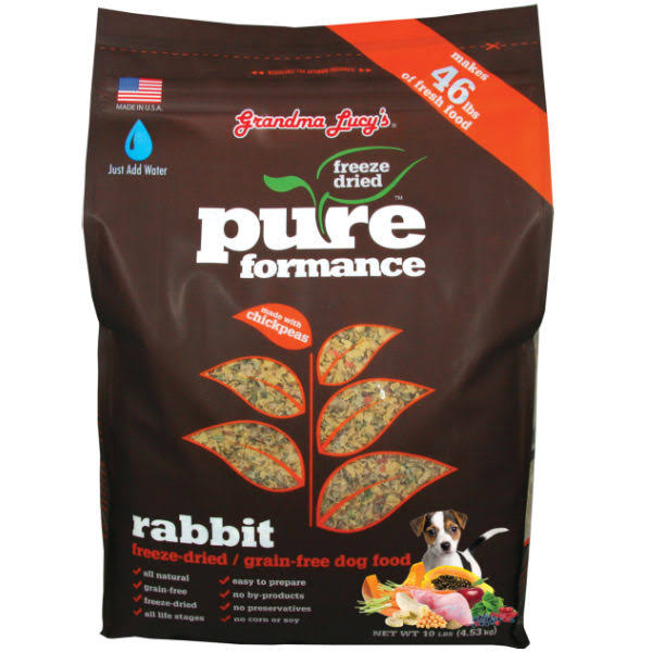Grandma Lucy's PUREformance Freeze-Dried Dog Food - Rabbit, 10lbs