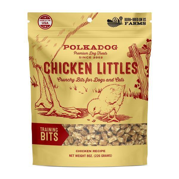 Polka Dog Bakery Chicken Littles Training Bits Dog & Cat Treats, 8oz