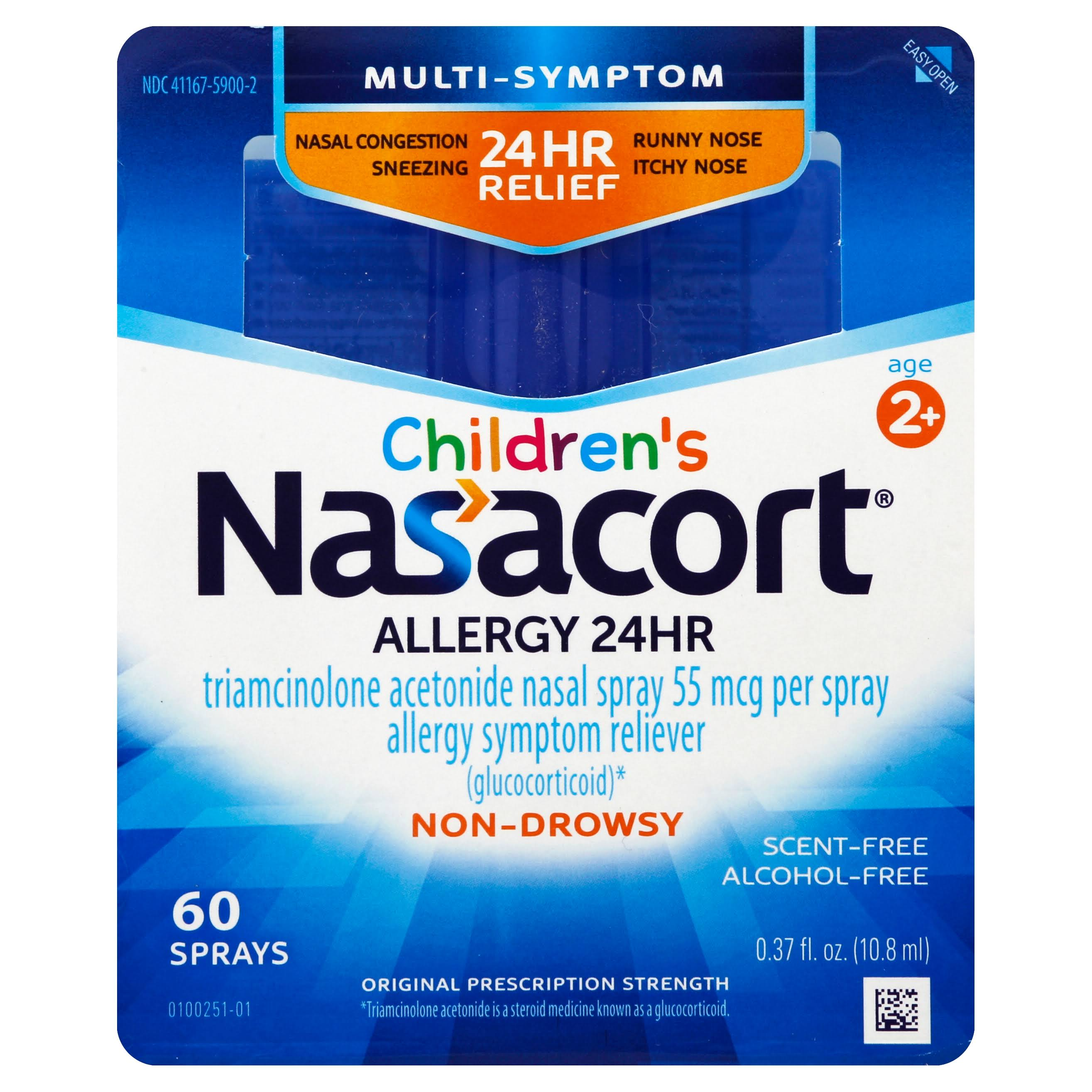 Children's Nasacort 24 HR Allergy Nasal Spray - 60 Sprays, 0.37 oz