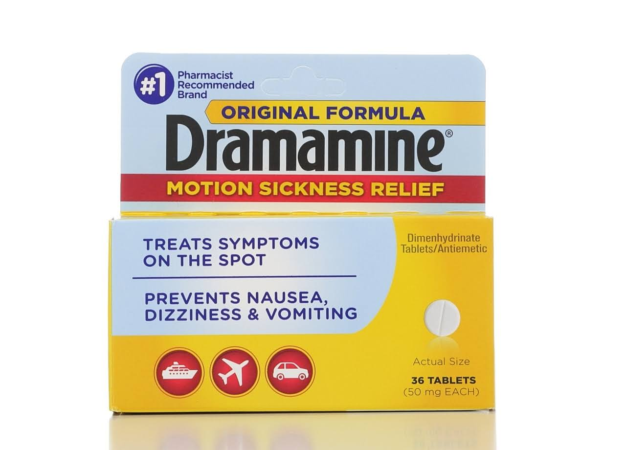 Dramamine Motion Sickness Relief Original Formula - 36 Pack