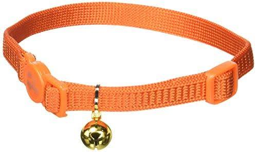 "Coastal Pet Products Nylon Safe Cat Adjustable Breakaway Collar - with Bells, Sunset Orange, 3/8"" X 12"""