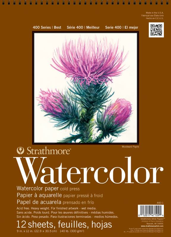 Strathmore 400 Series Watercolor Pad - 9inch x 12inch