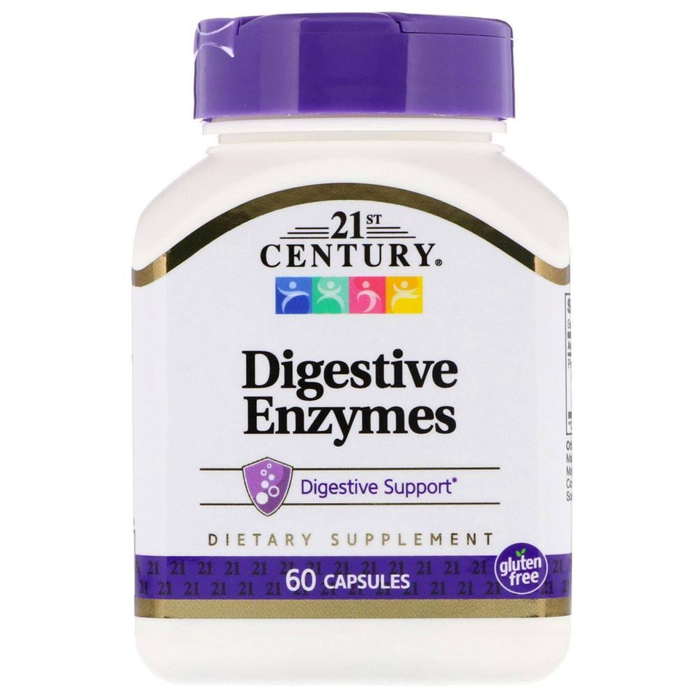 21st Century Digestive Enzymes Supplement - 60 Capsules