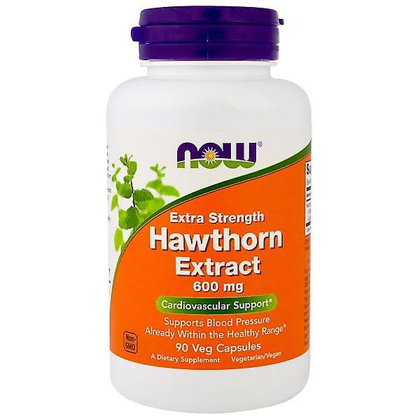 Now Foods Hawthorn Extract Dietary Supplement - 600mg, 90ct