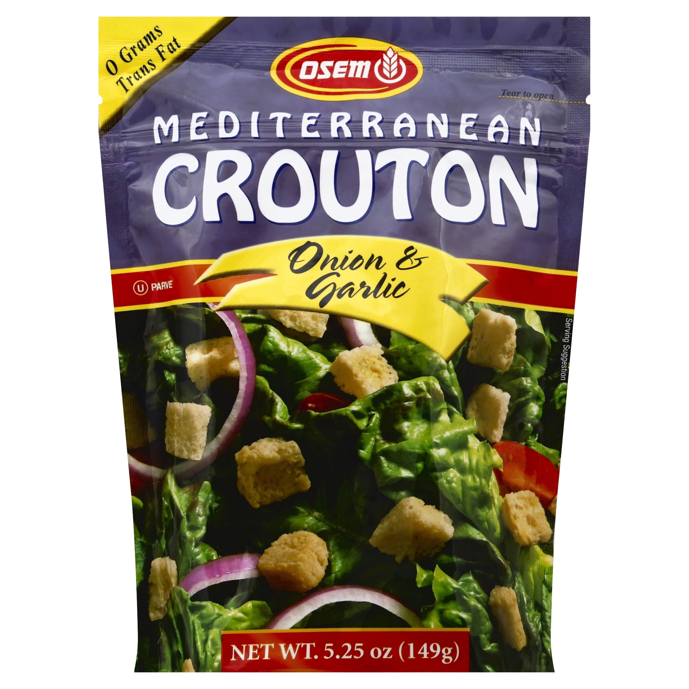 Osem Mediterranean Crouton - Onion and Garlic, 5.25oz