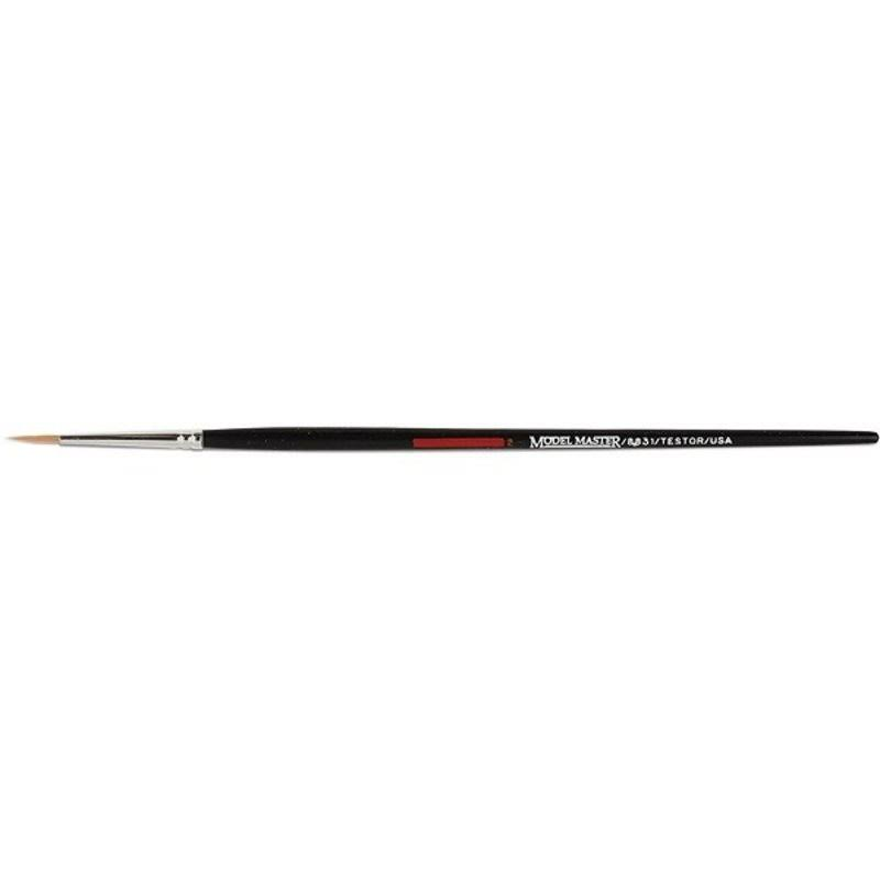 Testors 8831c Golden Synthetic Round Brush - #2