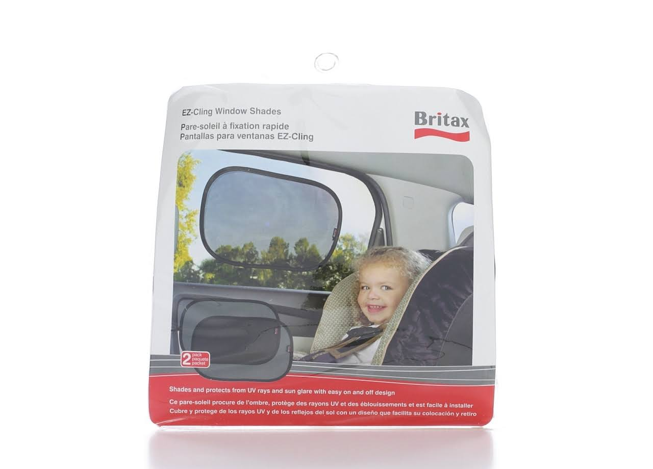 Britax EZ-Cling Sun Shades - Black, Set of 2