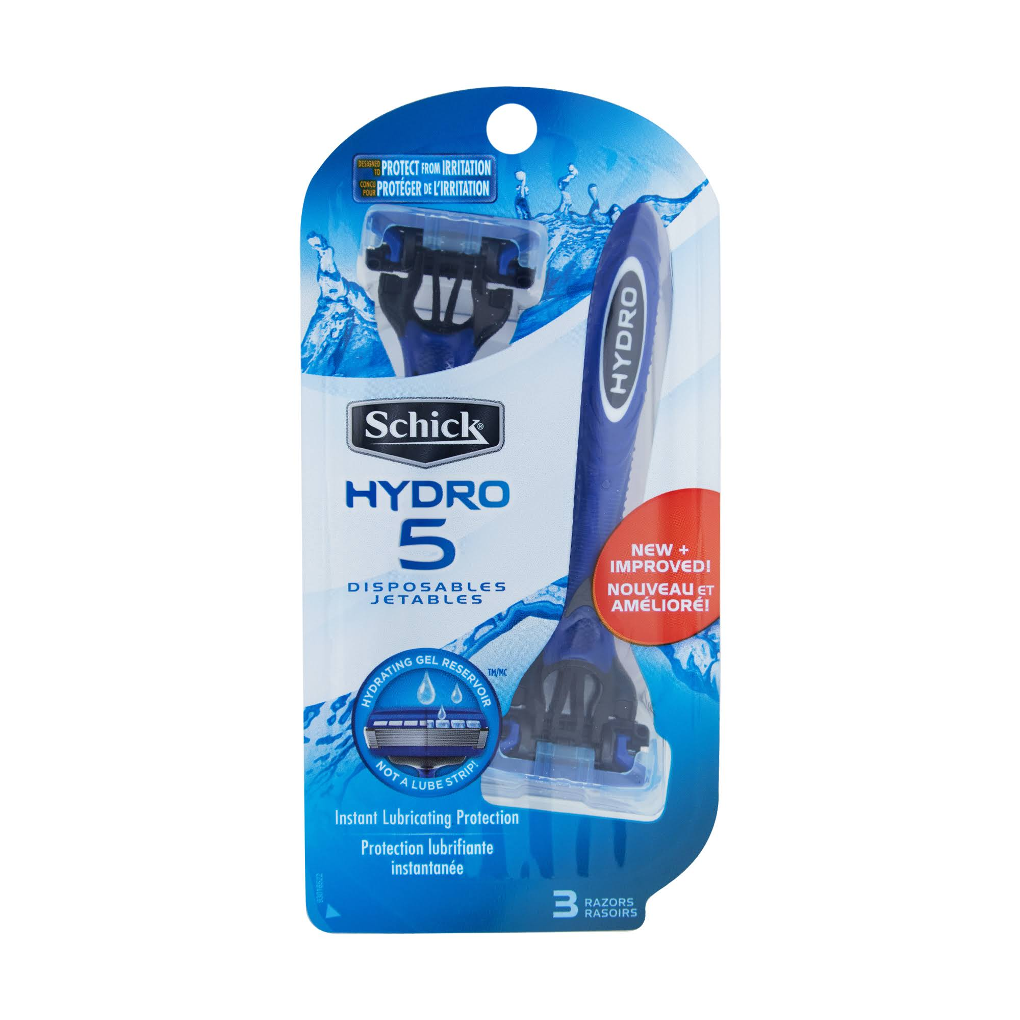 Schick Hydro 5 Men's Disposable Razor - 3 Pack