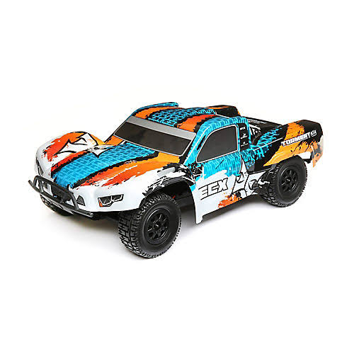 ECX 1/10 4WD C-ECX03243T1 Torment Brushed Orange/Blue RTR