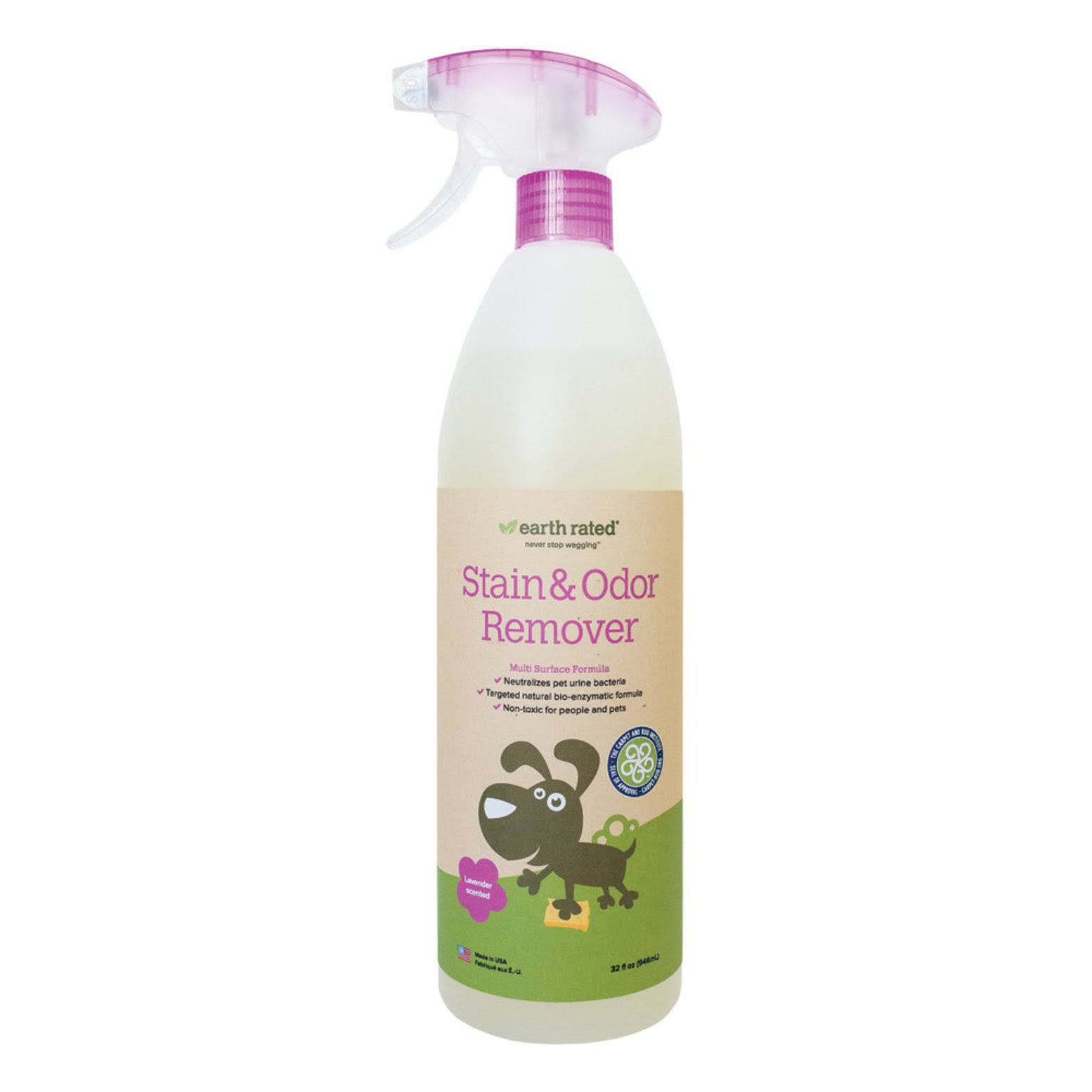 Earth Rated Pet Stain & Odor Remover - Lavender-Scented, 32oz