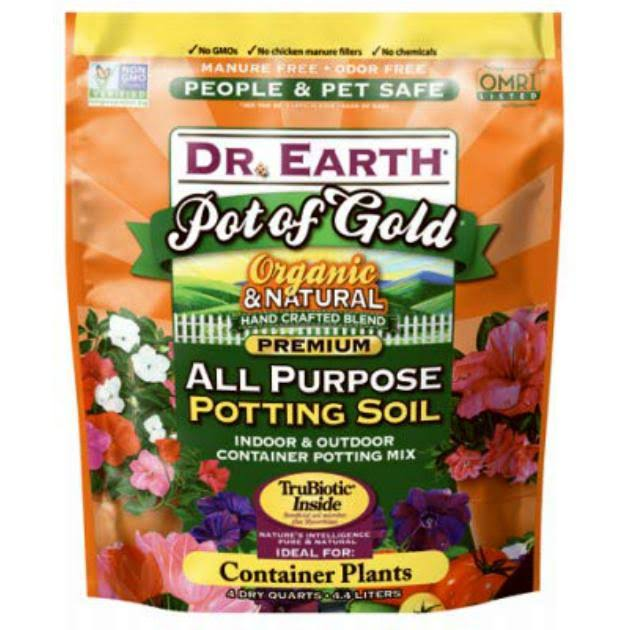 Dr Earth Pot Of Gold All Purpose Potting Soil - 4qt