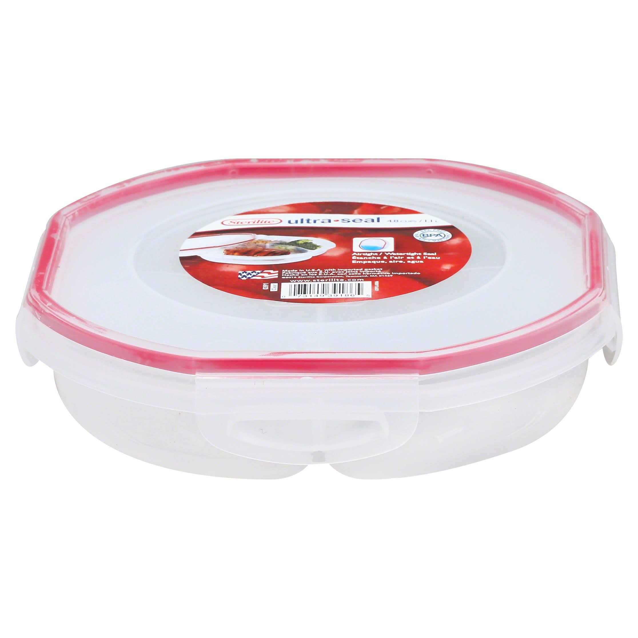 Sterilite Ultra-Seal Round Divided Dish