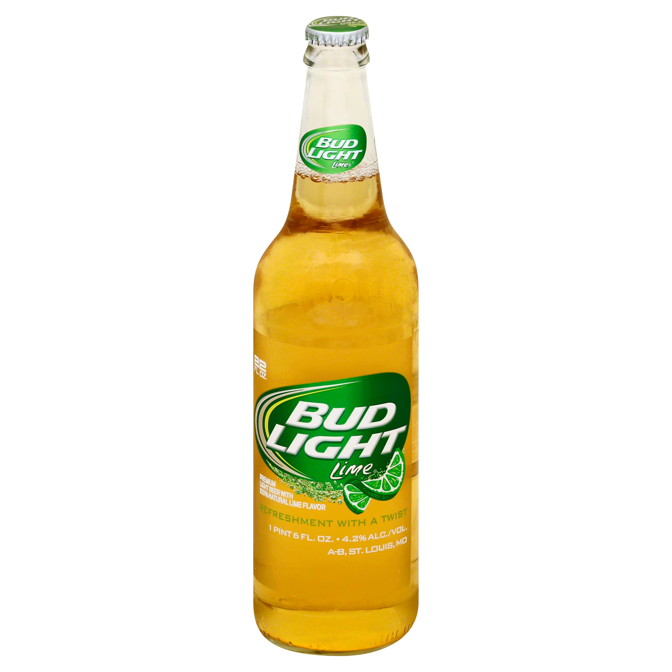 Bud Light Lime Beer - 22oz