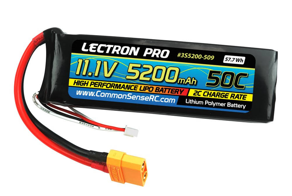 Lectron Pro 11.1v 5200mah 50c Lipo Battery Connector