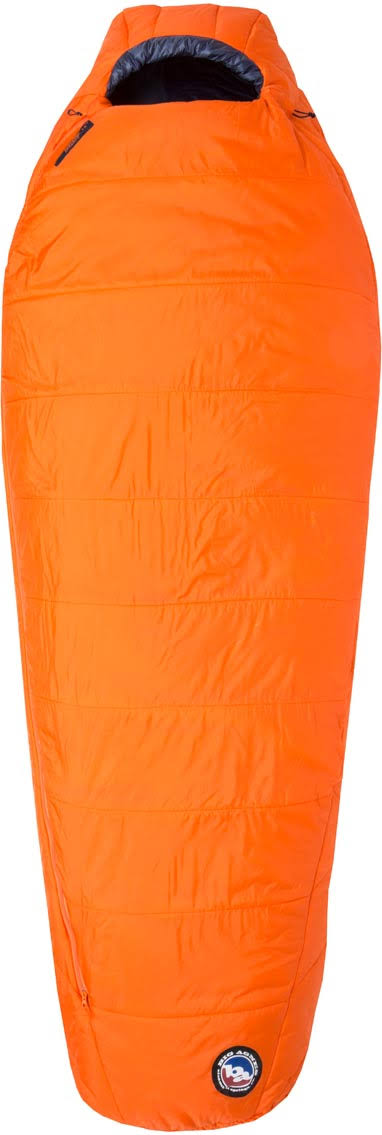 Big Agnes Lost Dog 15 Sleeping Bag Orange/Navy Long - Left Zip